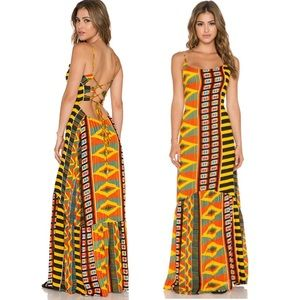 INDAH Zera Maxi Dress, Tribal King Print, African